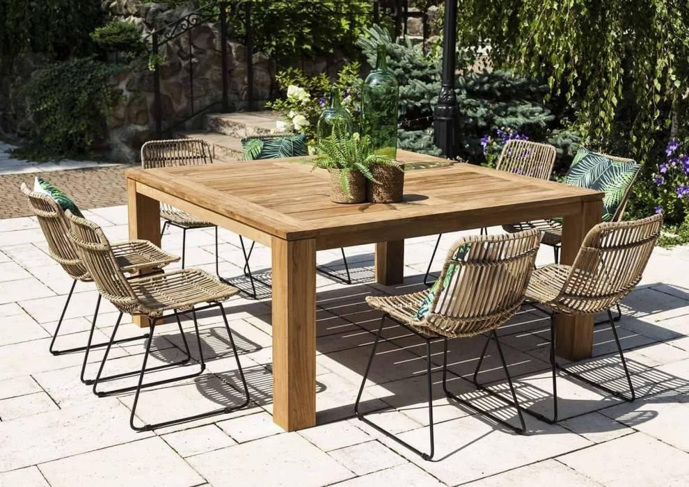 moderna-zahrada-inspiracie stol NIMES a stolička DINAN