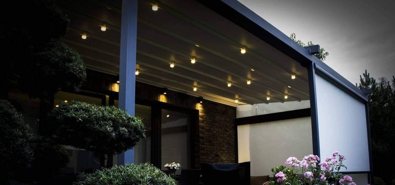 Moderné hlinikové pergoly s osvetlením