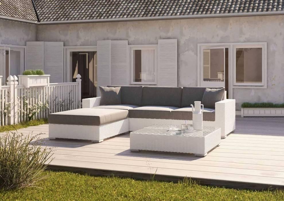 Záhradný nábytok súprava Milano royal biela