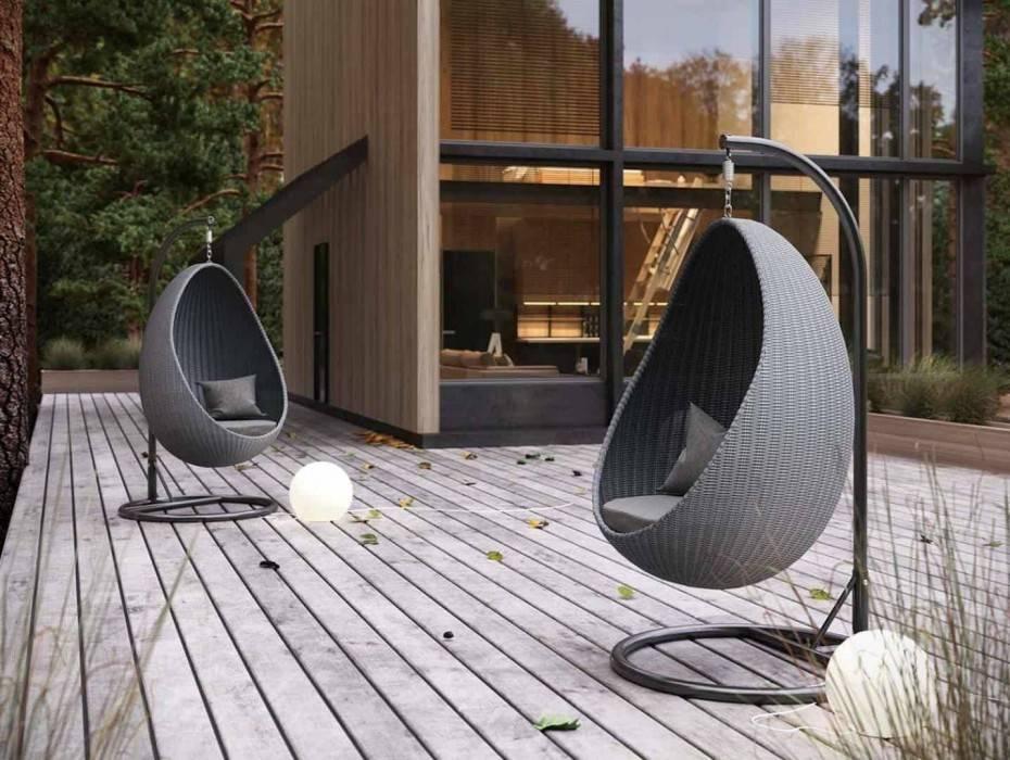 zavesne kreslo moderne vybavenie zahrady UOVO royal grey