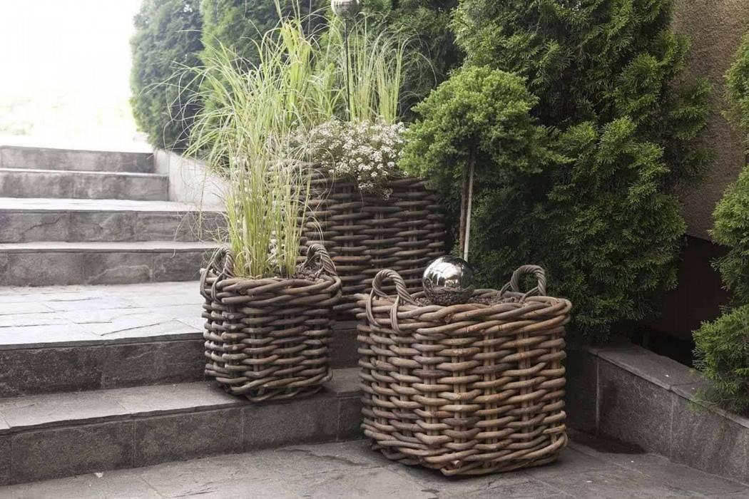 vysoké kvetináče do vašej záhrady  RENNES natural