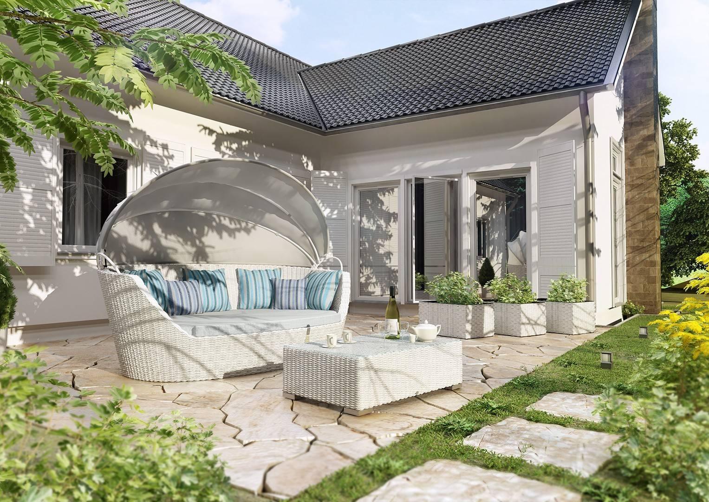 Záhradná ratanová pohovka PORTOFINO