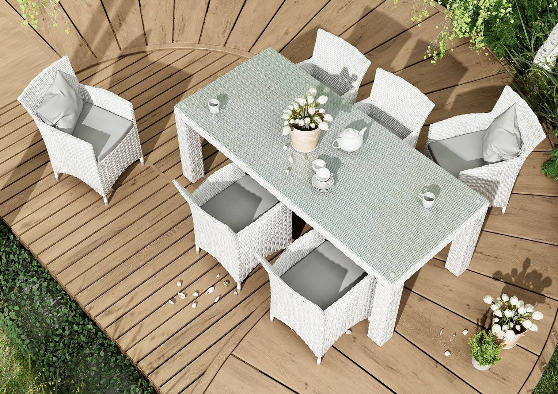 Záhradný ratanový stôl RAPALLO