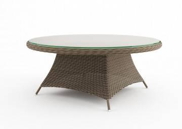 Záhradný ratanový stôl  RONDO 180 piesok