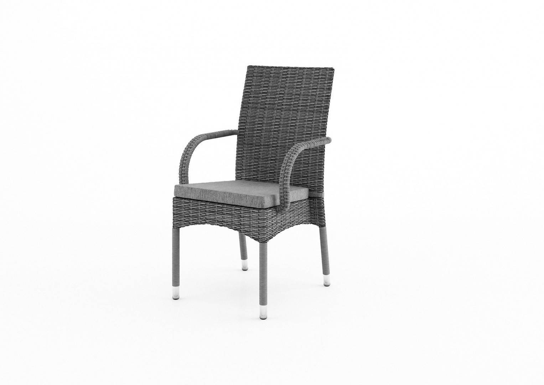 Záhradná ratanová stolička TRAMONTO Royal šedá