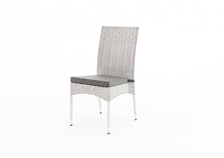Záhradná ratanová stolička STRATO Royal biela