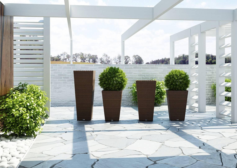 Záhradný ratanový kvetináč SCALEO 60 royal piesok