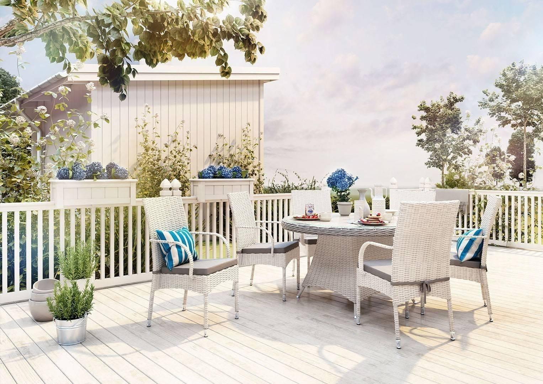 Záhradná ratanová jedálenská súprava RONDO ø130