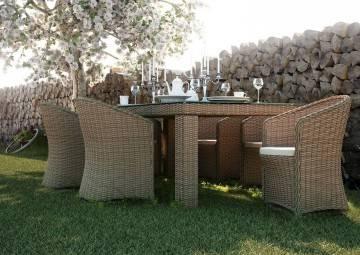 Záhradná ratanová súprava RAPALLO 4