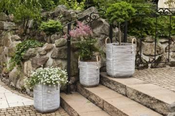 Záhradný ratanový kvetináč AMIENS