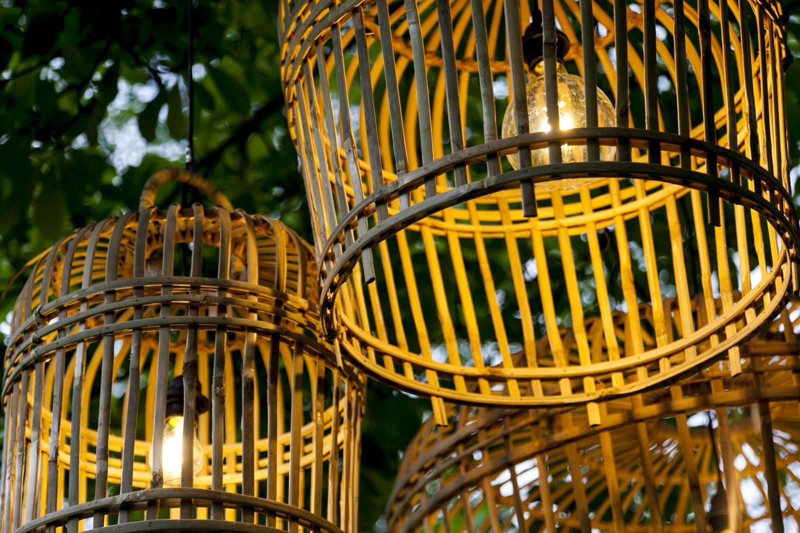 Záhradná ratanová lampa TOULOUSE ⌀41cm x výška. 47cm natural