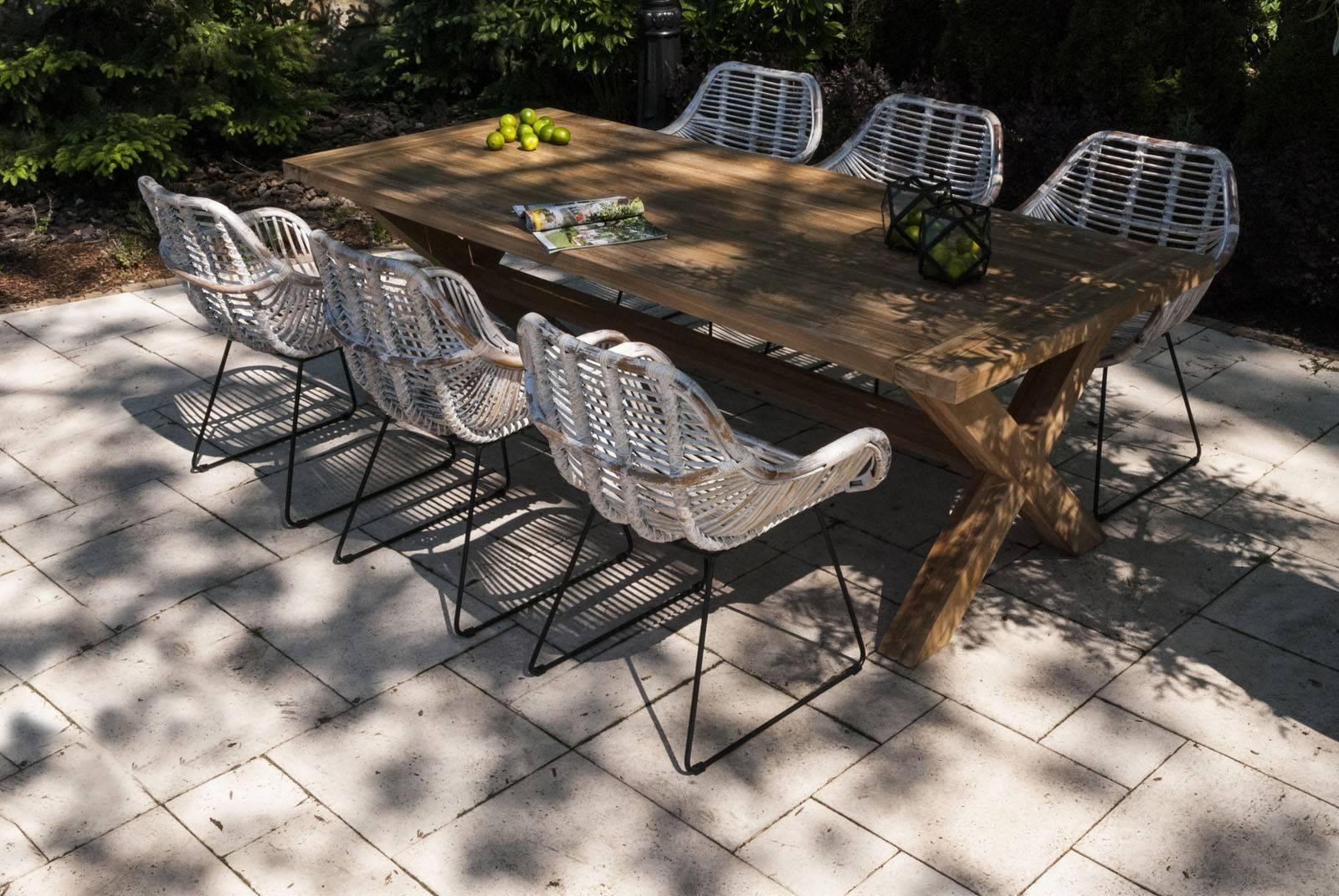 Biely záhradný nábytok na terasu set Lyon