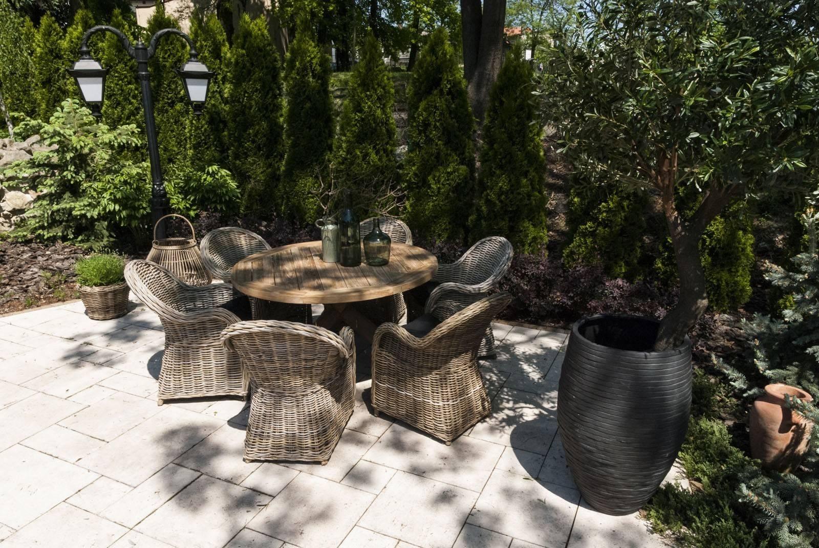 Záhradná teaková jedálenská súprava BORDEAUX V