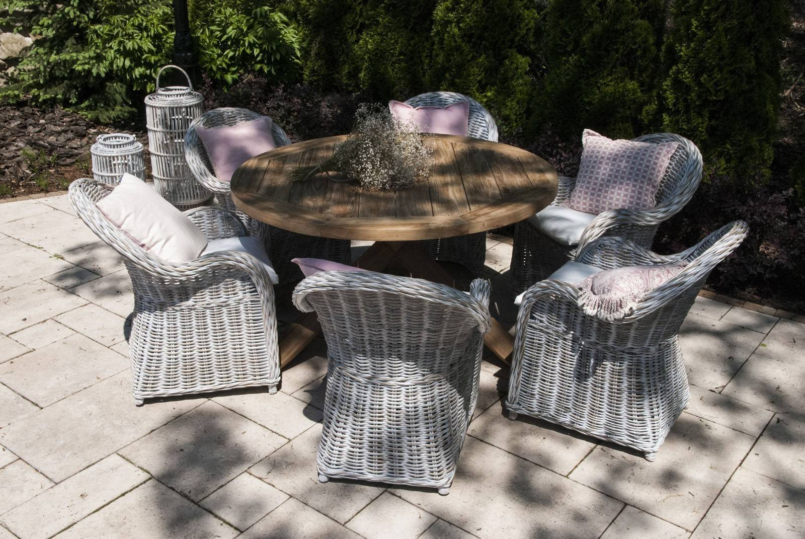 Záhradná teaková jedálenská súprava BORDEAUX VI