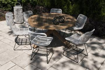 Záhradná teaková jedálenská súprava BORDEAUX VII