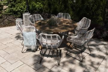 Záhradná teaková jedálenská súprava BORDEAUX IX
