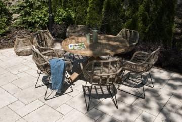 Záhradná teaková jedálenská súprava BORDEAUX X