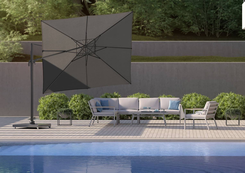 Záhradné slnečníky k bazénovému nábytku