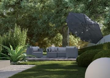 Záhradný slnečník Challenger T² Ø 3,5 m