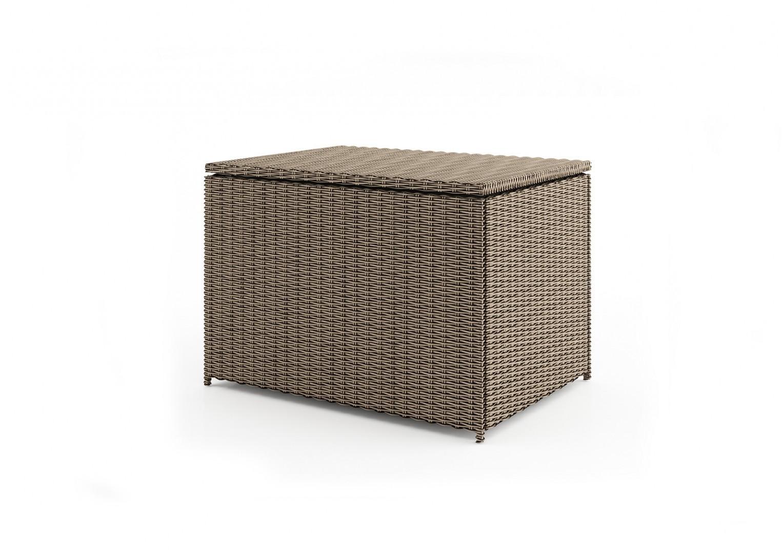 Záhradný ratanový box SCATOLA 100 Royal piesok