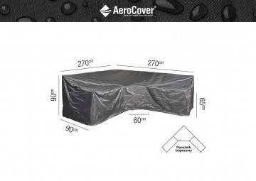 """7956 Ochranný kryt na záhradný nábytok v tvare """"L"""" 270x270x9..."""