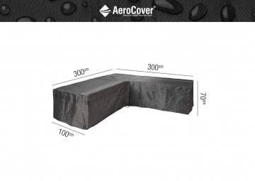 """7943 Ochranný kryt na záhradný nábytok v tvare """"L"""" 300x300x100x70cm"""