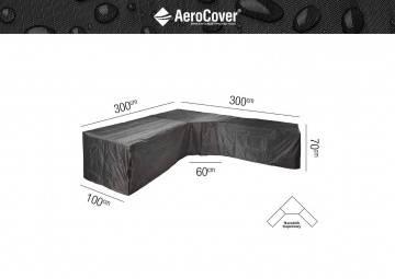 """7952 Ochranný kryt na záhradný nábytok v tvare """"L"""" 300x300x100x70cm (T)"""