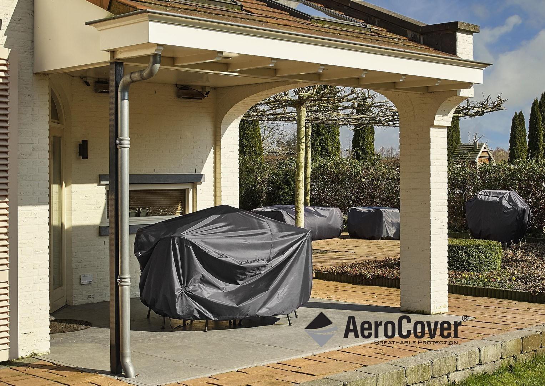 """7940 Ochranný kryt na záhradný nábytok v tvare """"L"""" 235x235x100x70cm"""