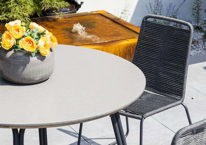Záhradná jedálenská súprava SIMI 120 cm