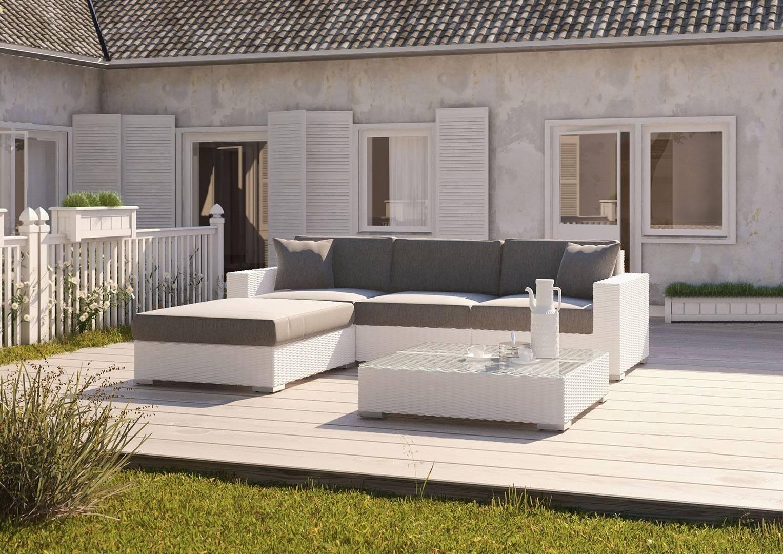 Biely záhradný nábytok na terasu zostava MILANO biela