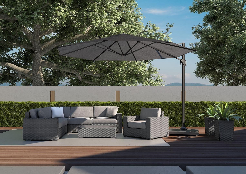 Záhradná ratanová sedacia súprava Milano II Royal grey