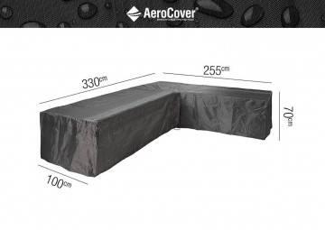 """7947 Ochranný kryt na záhradný nábytok v tvare """"L"""" 330x255x100x70..."""