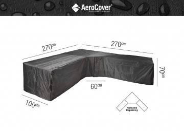 """7951 Ochranný kryt na záhradný nábytok v tvare  """"L"""" 270x270x100x70cm..."""