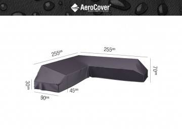 7880 Ochranný kryt na záhradný nábytok 255x255x90x30-45-70