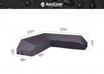 7881 Ochranný kryt na záhradný nábytok v tvare L 275x275x90x...