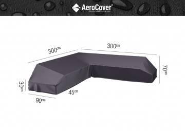 7886 Ochranný kryt na záhradnú súpravu v tvare L 300x300x90x30-45-70...