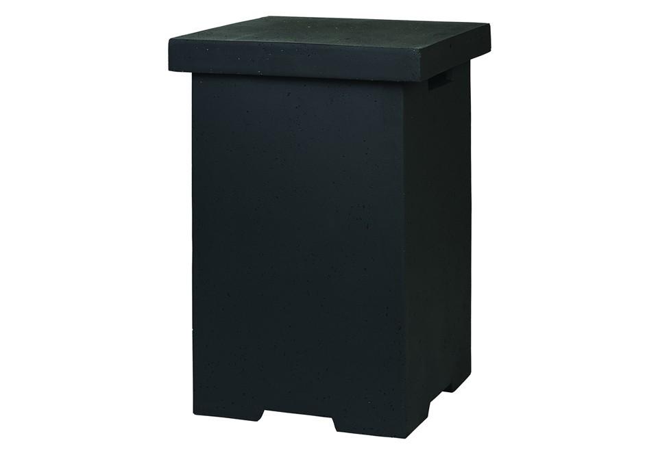 Bočný stolík k hranatému grilu čierny