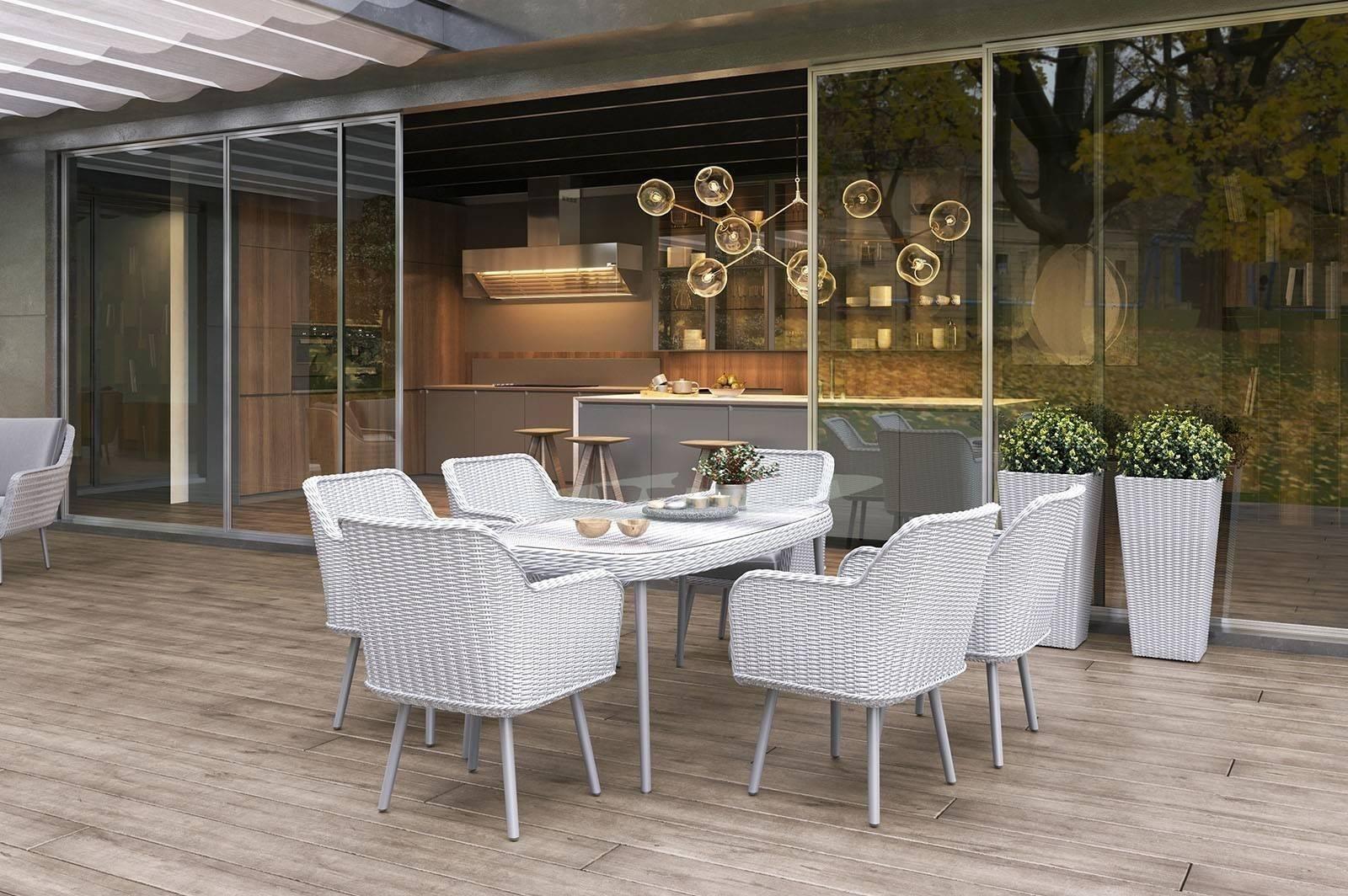 Záhradný nábytok v škandinávskom štýle RODI royal white