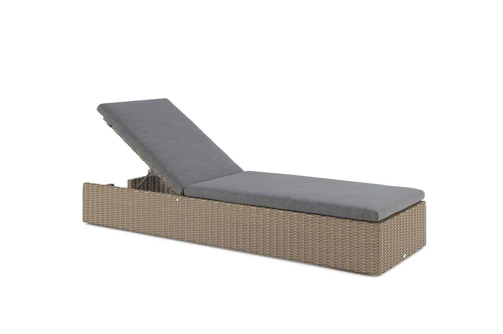 Záhradné ratanové ležadlo ALICE royal piesok