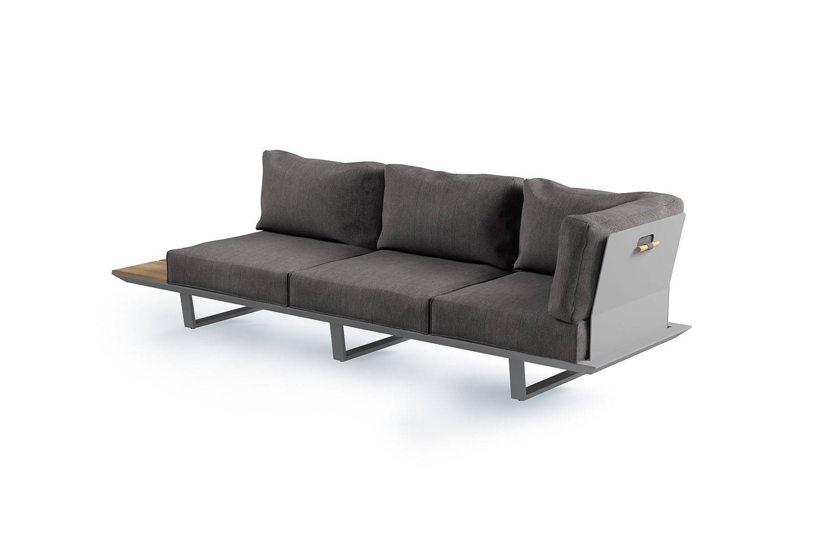 Záhradna hliníková súprava CORIA II grey
