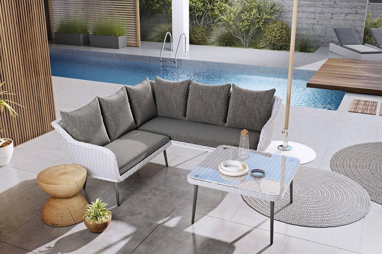 Záhradný nábytok v škandinávskom štýle IMOLA royal white