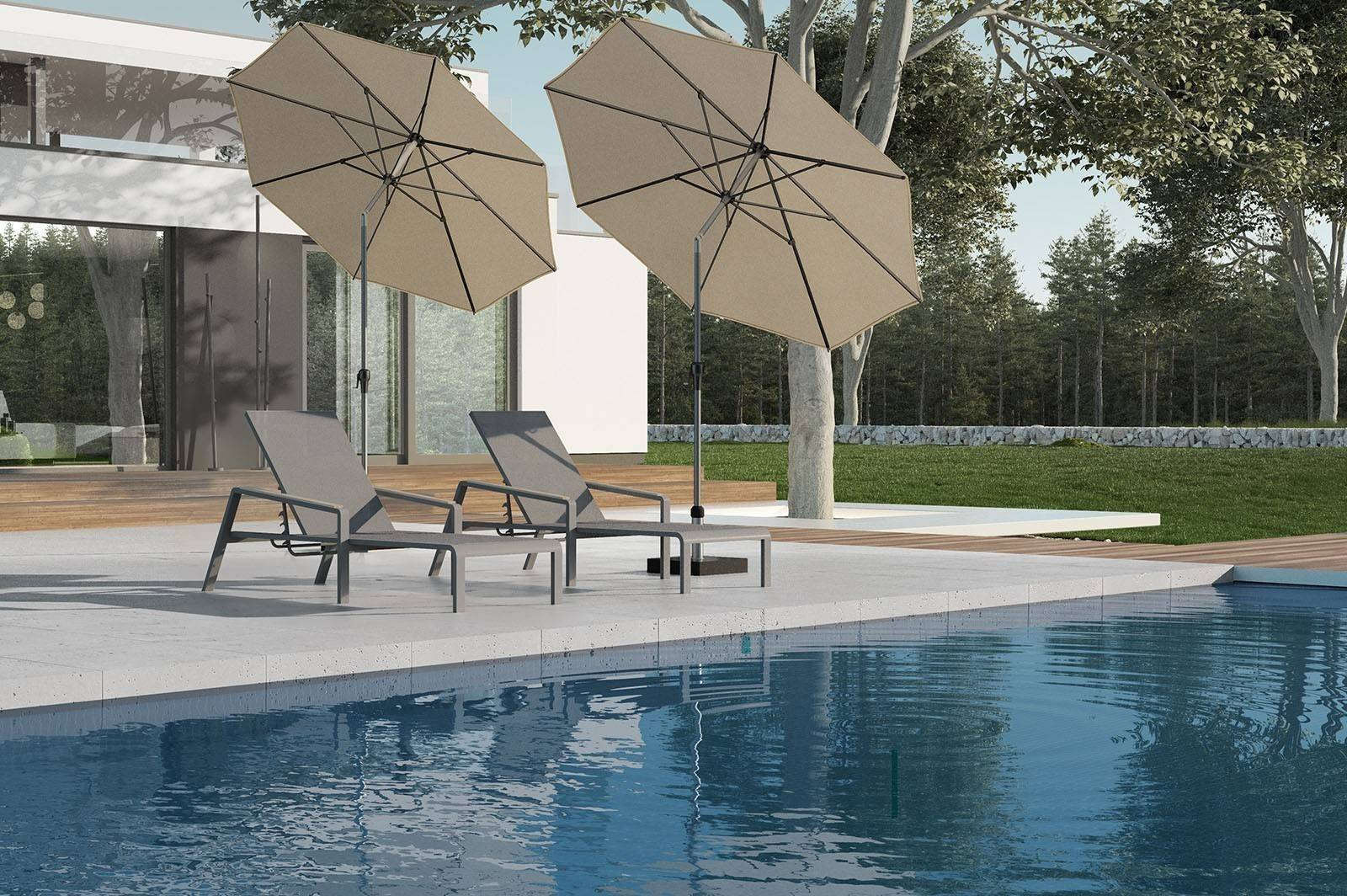 Bazénový nábytok záhradné ležadlo CORDOBA