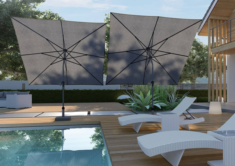 Záhradný slnečník Riva 2,5x2,5m