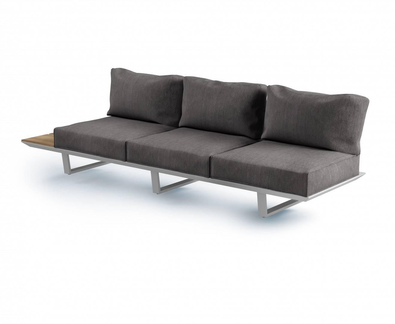 Záhradná hliníková sedacia súprava CORIA II light grey