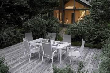 Záhradný nábytok OVIEDO matná biela
