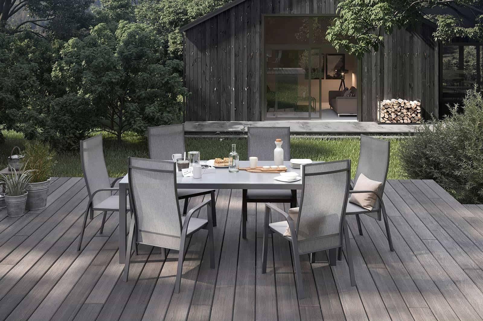 Záhradný hlinikový stôl OVIEDO antracit