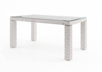 Záhradný ratanový stôl RAPALLO 160 Royal biela