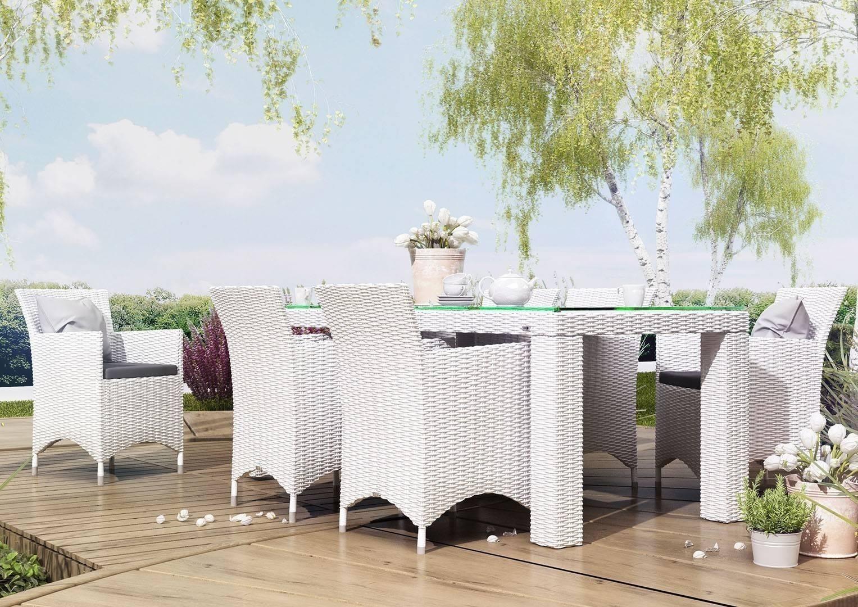 Biely záhradný nábytok na terasu zostava RAPALLO biela