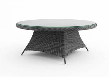 Záhradný ratanový stôl  RONDO 180 sivá