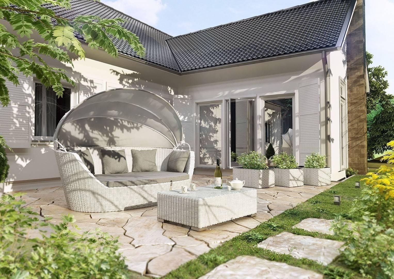 Záhradný nábytok Portofino royal biela